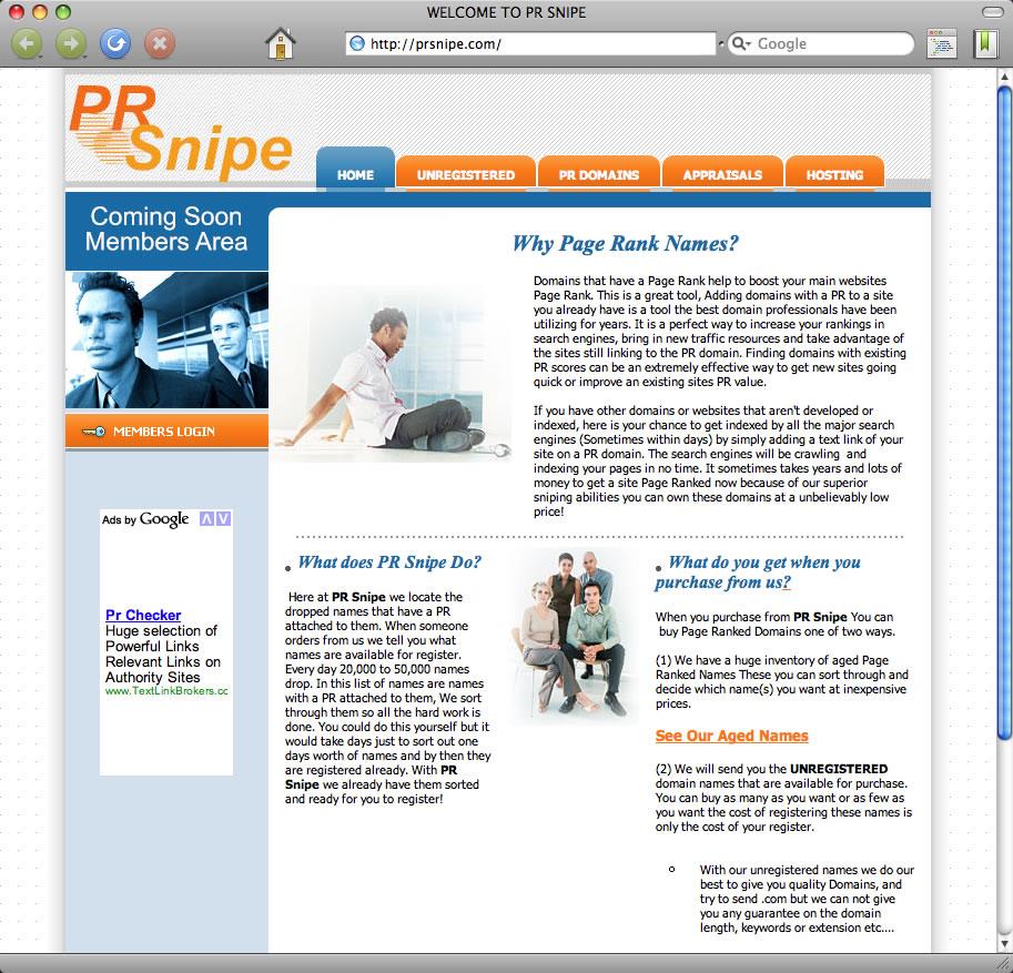 PR Snipe spam sponsor prsnipe.com